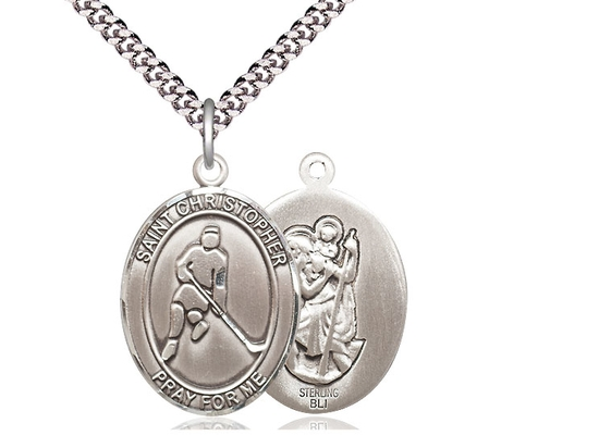 Christopher Pendant Sterling Silver St 24 Chain