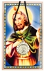 ST JUDE MEDAL ON LEATHER CORD PRAYER CARD SET PSD600JULC