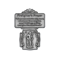 Firefighter Prayer Pewter Visor Clip VC-861