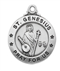 Sterling Silver St. Genesius Pendent L600GN