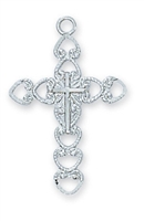 Sterling Silver Cross L6091