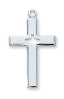 Holy Spirit Sterling Silver Cross L7017