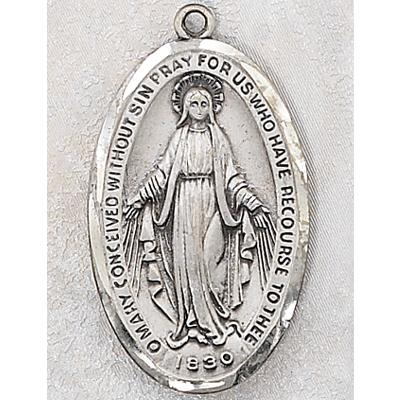 Large 3.3 Cm. Sterling Silver MIraculous Medal