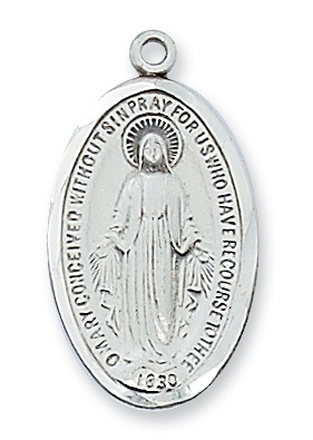 2.3 Cm. Sterling Silver Miraculous Medal
