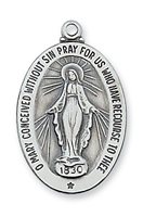 Sterling Silver Miraculous Medal L461MI