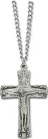 Trinity Cross Necklace with Prayer Card