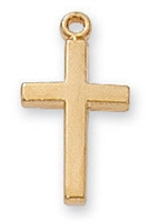 18 KT. Gold over Sterling Silver Cross J6099