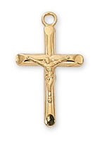 Gold Over Sterling Silver Crucifix J8013