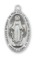 Sterling Silver Miraculous Medal L500MI