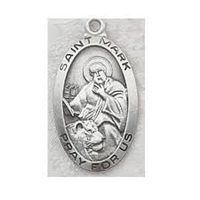 St. Mark Sterling Silver Medal L550