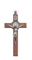 "8"" Walnut Saint Benedict Crucifix 79-42499"