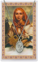 St. Dymphna Prayer Card with Pendant PSD500DY
