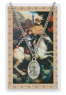Saint George Prayer Card with Medal PSD550GE