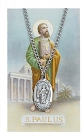 St. Paul Pendant and Prayer Card Set