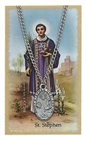 St. Stephen Pendant and Prayer Card Set