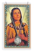 Saint Kateri Medal and Prayer Card
