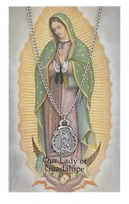 Our Lady of Guadalupe Medal and Prayer Card Set