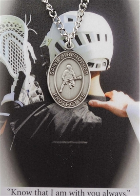 Boy's Lacrosse Prayer Card Set