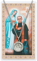 Saint Maximilian Kolbe Pewter Medal & Prayer Card Set PSD600MX