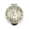 Saint Christopher Pewter Visor Clip VC-894