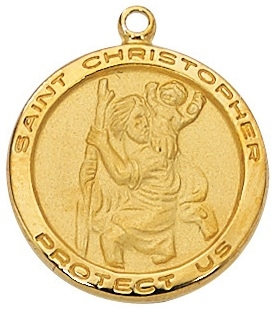 St. Christopher Gold or Silver Medal--Patron of Travelers J515ch