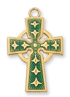 18KT Gold Plated Celtic Cross J8083E