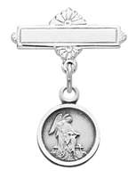 Sterling Silver Guardian Angel Baby Pin 422L