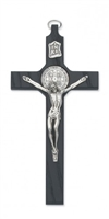 "8"" Black Saint Benedict Crucifix  79-42649"