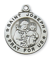 Sterling Silver St. Joseph Pendent L600JS