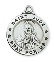 Sterling Silver St. Jude Pendent L600JU