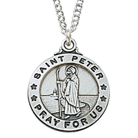 Sterling Silver St. Peter Pendent L600PTR