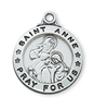 Sterling Silver St. Anne Pendant L600AE