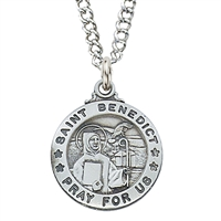 Sterling Silver Saint Benedict L600BN