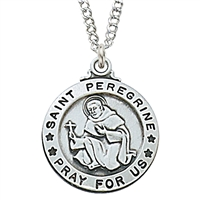 Sterling Silver St. Peregrine Pendant L600PE