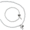 Pearl Butterfly Miraculous Medal Girls Bracelet and Pendant Set STR7
