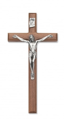 "10"" Walnut Crucifix 80-04"