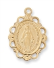 18KTGold  on Sterling Silver Blue Miraculous Medal J572