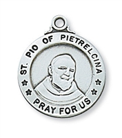 Sterling Silver St. Padre Pio Pendent L600PP