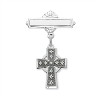 Sterling Silver Celtic Cross Baby Pin 434L