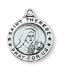 Sterling Silver St. Therese Pendant L700TF