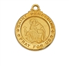 Gold over Sterling Silver St. Peregrine Pendent J700PE