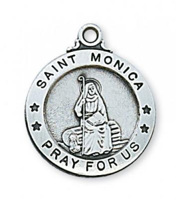 Sterling Silver St.  Monica Pendent L600MN