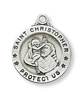 Sterling Silver St. Christopher Pendant L700CH