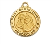 Gold over Sterling Silver St. Christopher Pendent J700CH