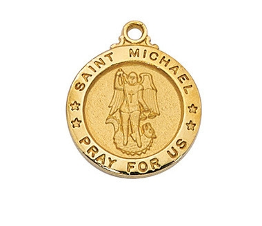 Gold over Sterling Silver St. Michael Pendent J700MK