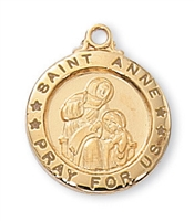Gold over Sterling Silver St. Anne Pendent J700AE
