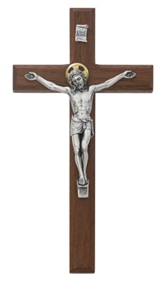"8"" BEVELED WALNUT CRUCIFIX 80-157"