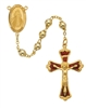 Gold Over Sterling Silver Divine Mercy Rosary 583J/F