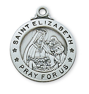 Sterling Silver St. Elizabeth of Hungry Pendant L600EZ