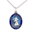 Sterling Silver Blue Epoxy St. Christopher L831